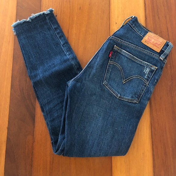 Levi's Denim - Levis 501 Skinny Blue Jeans Button Fly (W25, L28)